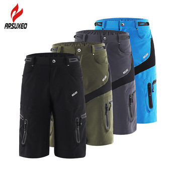 ARSUXEO Men's Tactical Shorts Outdoor Sports Hiking Shorts with Zipper Pocket Breathable Sweat Cycling Mountain Bike MTB Shorts цена 2017