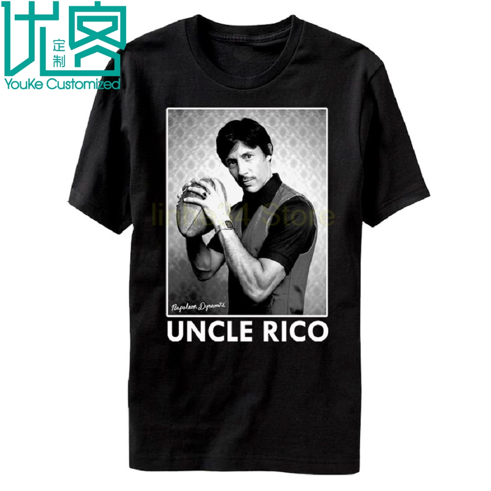 Adult Black High School Comedy Movie Napoleon Dynamite Uncle Rico Tee Short Sleeves Fashion Free Shipping T Shirt image