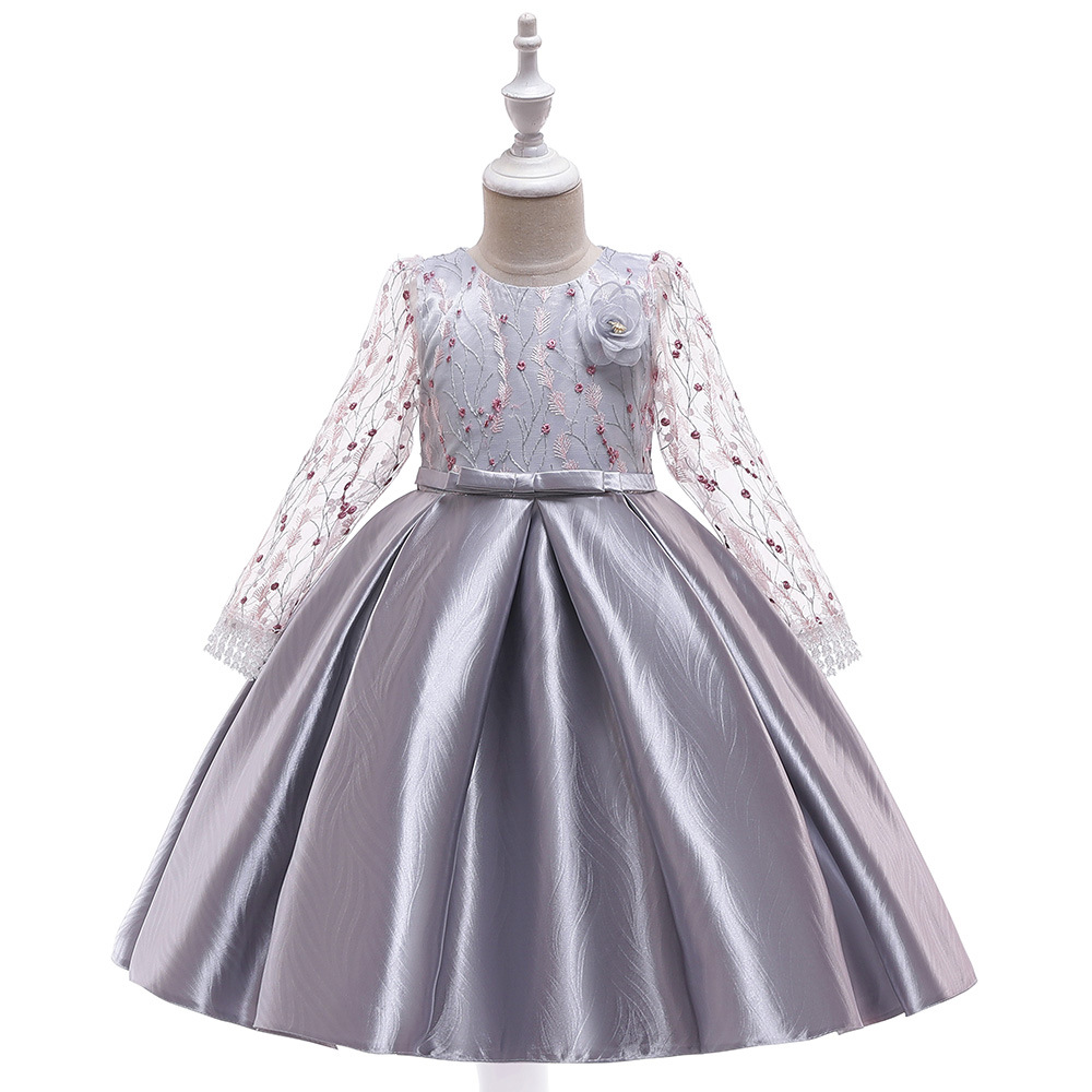 Top Long Sleeves Lace Princess Kids First Communion   Dresses   Pageant Gowns Prom   Dress   Evening   Dress     Flower     Girl     Dresses   2019
