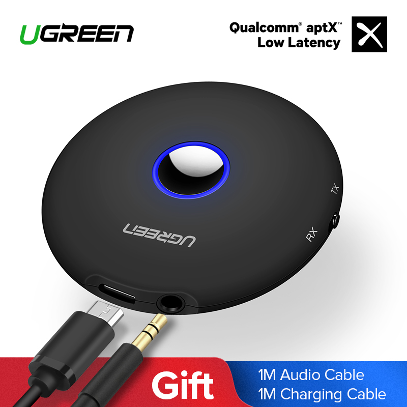 Ugreen transmisor Bluetooth 4,2 de 3,5mm adaptador Bluetooth APTX para TV auriculares altavoz Playstation 4 DE Audio Bluetooth receptor