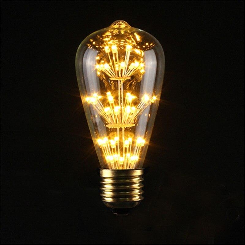 E27 40w Vintage Retro Filament Edison Tungsten Light Bulb: Vintage Edison Bulb LED Lamp E27 E14S 3W 5W 40W Retro