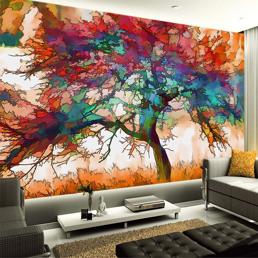 Custom Any Size 3D Mural Wallpaper European Modern Minimalist Bedroom Living Room TV Backdrop Abstract Trees 3D Photo Wallpaper custom any size 3d mural wallpaper european modern minimalist bedroom living room tv backdrop abstract trees 3d photo wallpaper