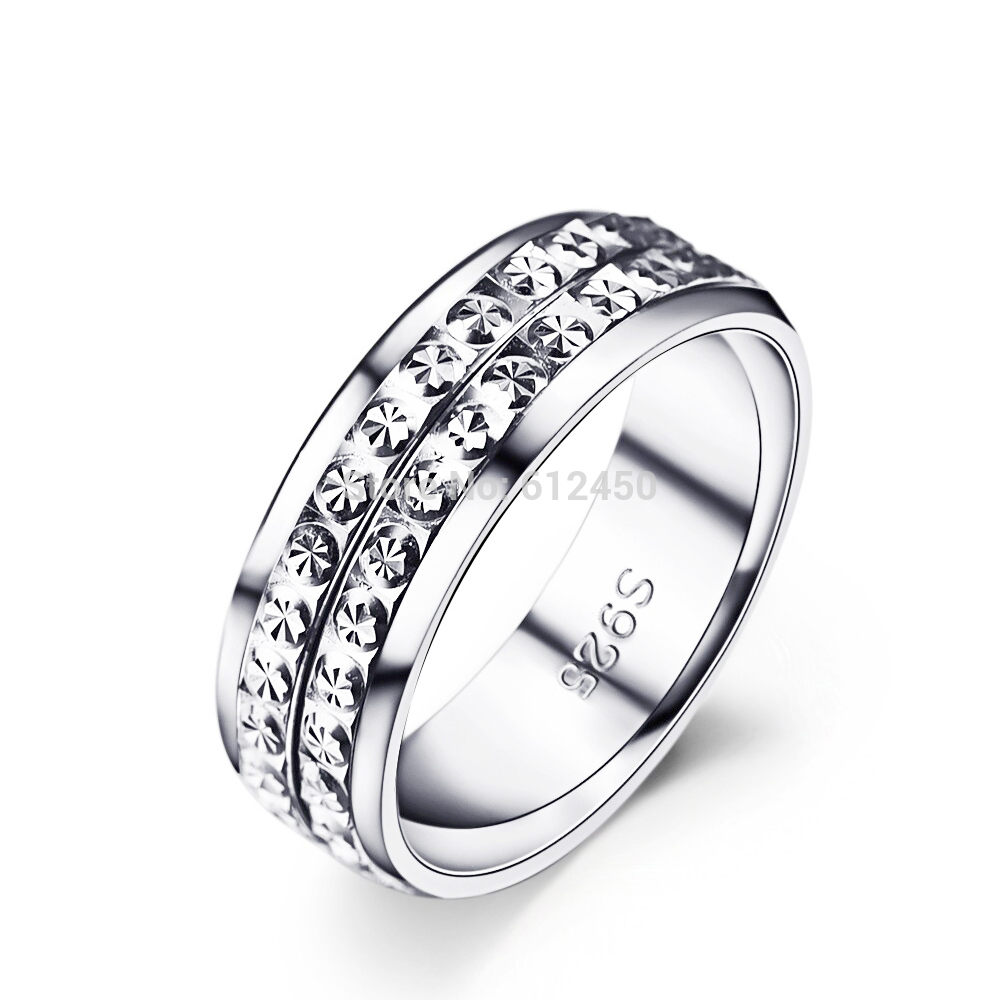 Unisex 925 Sterling Silver Rings for Women & Men Beautiful Carved ...