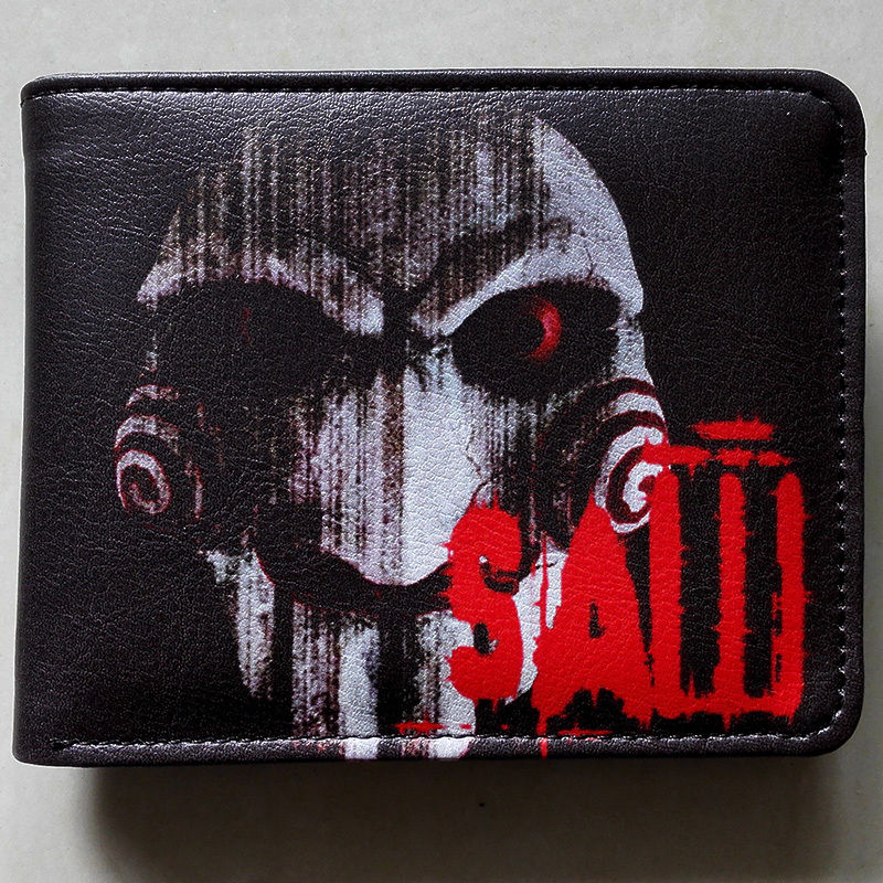 2018 Movie Saw Logo wallets Purse Multi-Color Leather Man women New Hot Cool W176 2018 games pacman games logo wallets purse multi color leather new hot w199