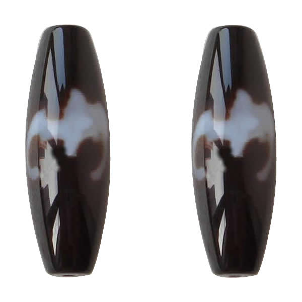 Amulet Grade AAA Agate Natural Tibetan Dzi Beads Oval 13x38mm Hole:Approx 2mm Free Shipping