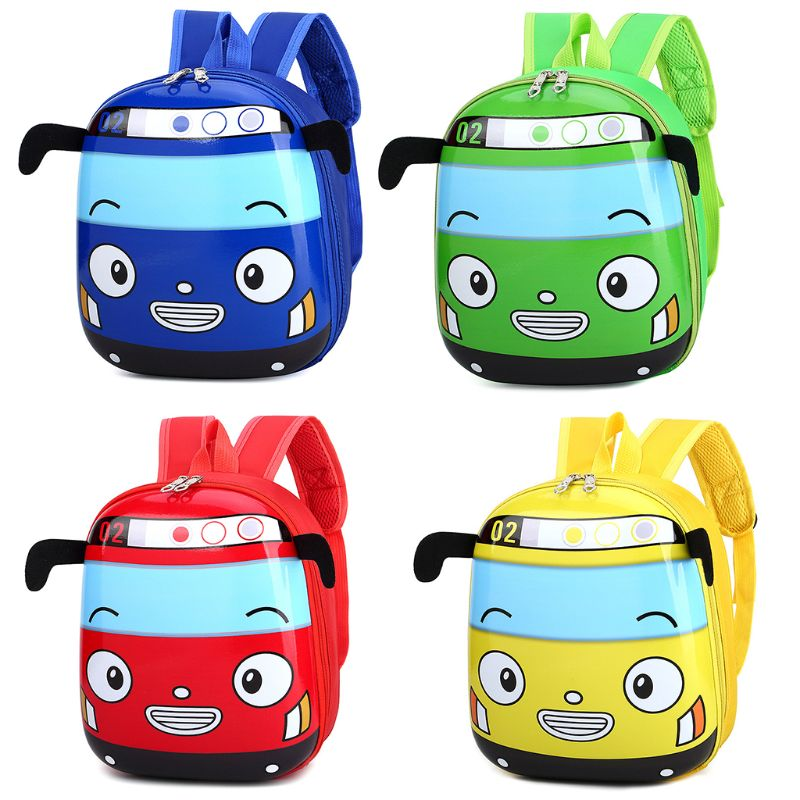 Kid's Cartoon 3D Car Shape School Backpack Kindergarten Bookbag For Boys Girls
