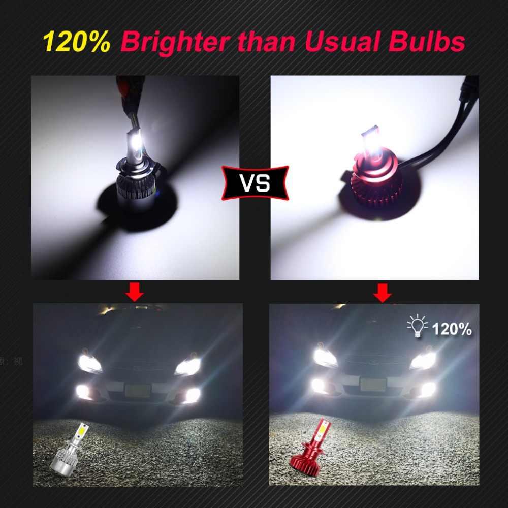 2pcs H4 H7 LED H1 H3 H8 H11 HB3 9005 HB4 9006 H27 880 881 LED Bulbs Mini Car Headlight Lamp 10000LM 50W Auto Headlamp 12V 24V
