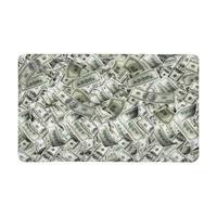 Funny Flying Banknotes of Dollars Currency Money Indoor Doormat Non Slip Front Entrance Door Mat Rug