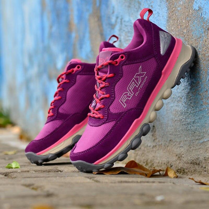 RAX femmes chaussures de randonnée léger Sports de plein air baskets pour femme chaussures de Trekking femmes voyage tourisme chaussures respirantes