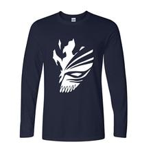 BLEACH Printed long sleeve cotton casual Men T Shirt