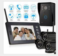 2.4 г беспроводной дверной звонок Система внутренней связи home безопасности беспроводной дверной звонок камеры комплект с 7 дюймов ЖК дисплей