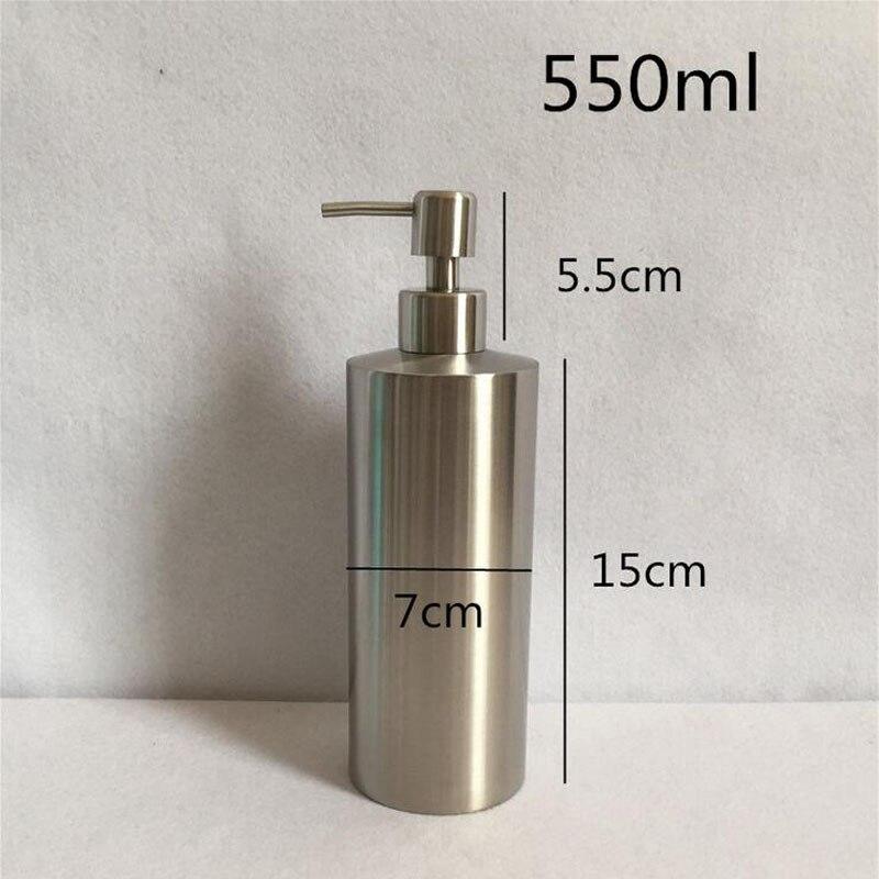 Stainless Steel 250ml 350ml 550ml Liquid Soap Dispenser Kitchen Bathroom Lotion Pump Bottle