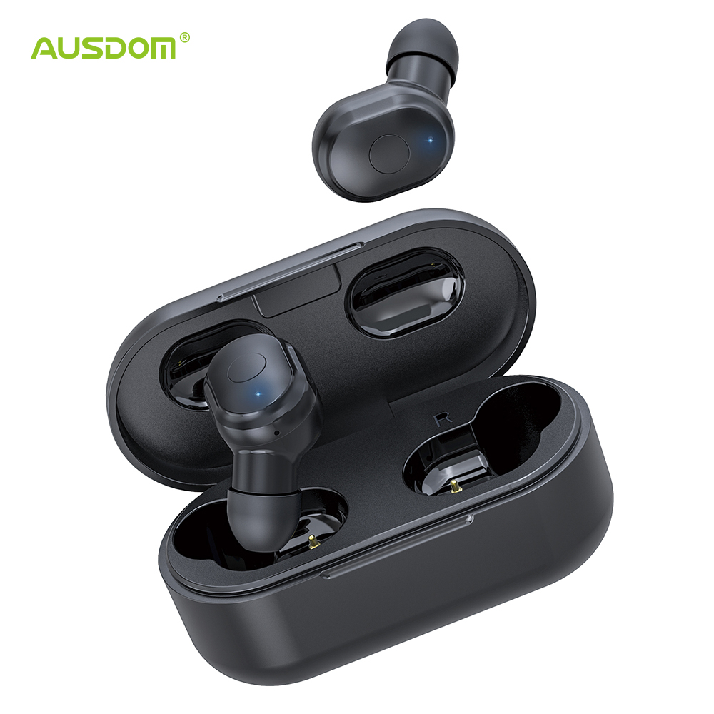 AUSDOM TW01 <font><b>TWS</b></font> Wireless Bluetooth Earphone 20H Playtime CVC8.0 Noise Cancelling 8mm Speaker Wireless Headphones With Dual Mic image