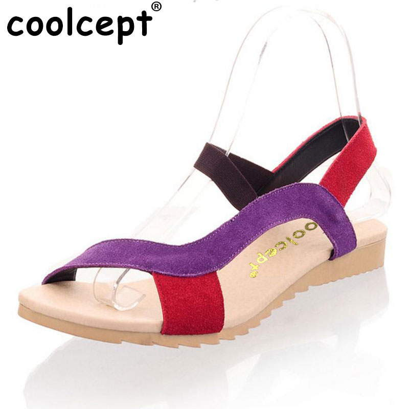 Coolcept women HOT SALE G103 high quality flat dress shoes women's fashion genuine leather sandals size 34-40 кухни угловые с ценами готовые купить