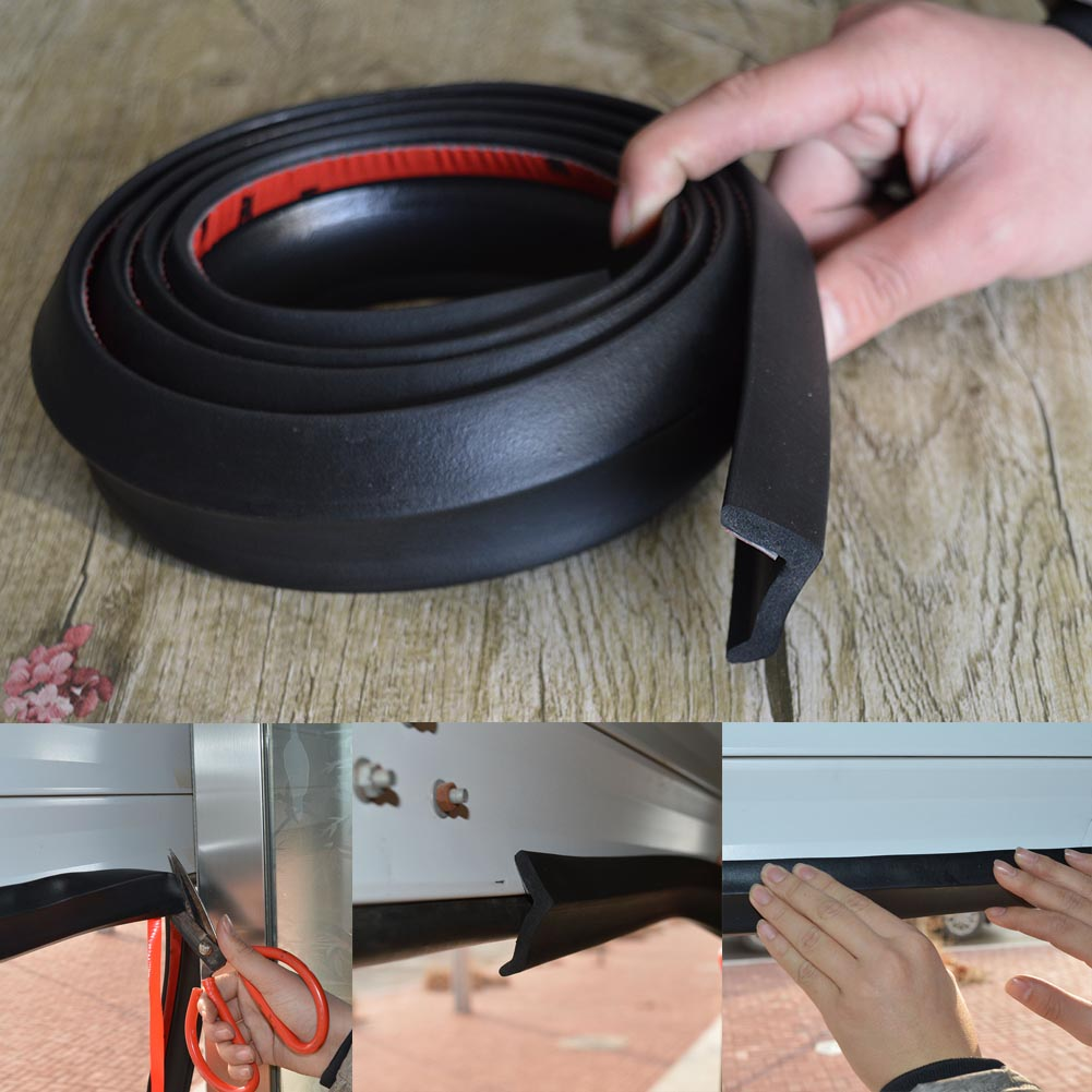 5m Garage Door Bottom Weather Stripping Rubber Seal Strip Replacement Door Bottom Seal -- JD9 WWO66 refrigerator door seal seal door strip refrigerator door seal electric door seal parts a