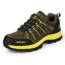 Лидер продаж Уличная обувь мужчины восхождение горный большой Размеры Туризм Спортивная обувь кожаные Трекинговые ботинки для мужчин альпинизм обувь