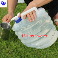 15 Liters Outdoor Foldable Collapsible cold Drinking Water Container Camping Hiking Picnic Bucket Storage Carrier 15 liters outdoor foldable collapsible cold drinking water container camping hiking picnic bucket storage carrier