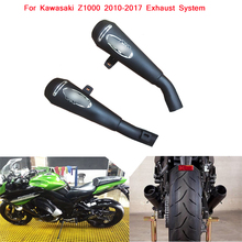 цена на 2010 2011 2012 2013 2014 2015 2016 2017 Motorcycle Exhaust Muffler Pipe Stainless Steel System Silp on For Kawasaki z1000