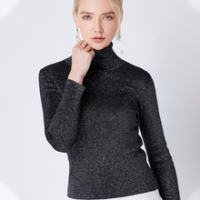 Autumn Turtleneck Sweater Fashion Long Sleeve Slim Womens Solid Color Casual Pullover  Knit Women