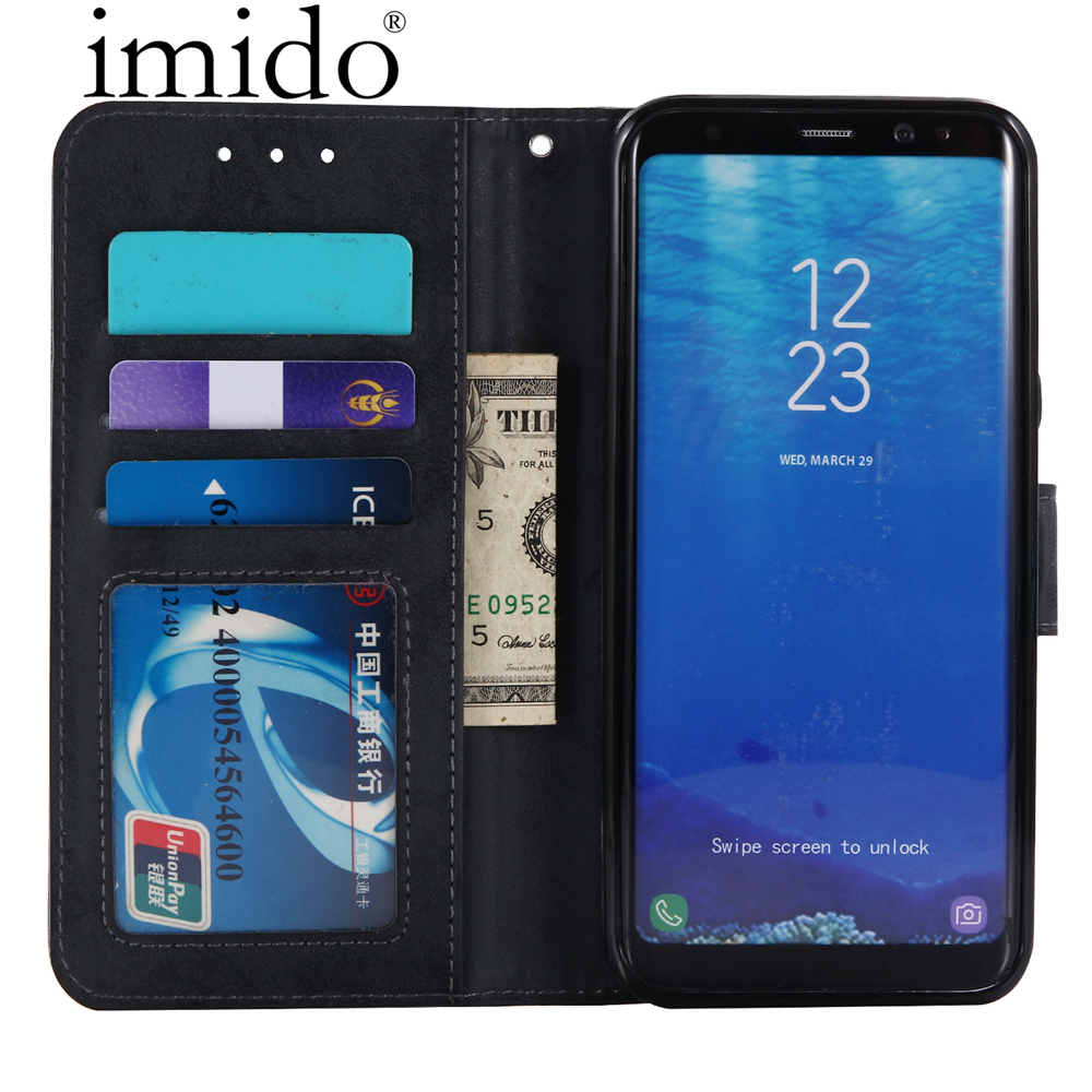 Retro Leather Flip Stand Phone Case For Sumsung Galaxy S6 S7 S8 Plus Edge Note 5 Leather Wallet Flip Cases Card Slot cover case