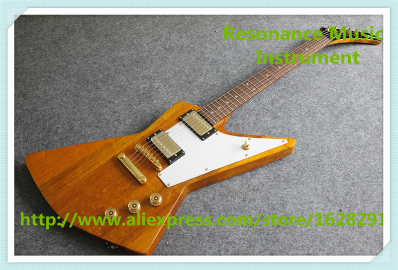100% Réel Photos Explorer Flying V Suneye Guitares Électrique Avec Touche Palissandre & Blanc Pickguard Pour Vente