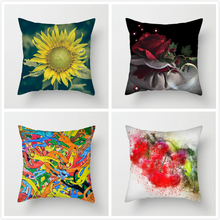 Fuwatacchi Animal Scenic Style Cushion Cover Deer Sun Flower Printed Pillow for Home Sofa Chair Decorative Pillows 45*45cm