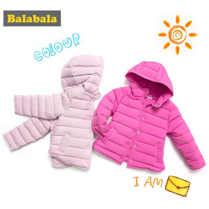 Balabala/Детская пуховая зимняя куртка для девочек, теплый пуховик, тонкая модная мягкая удобная детская куртка с капюшоном, 4 цвета