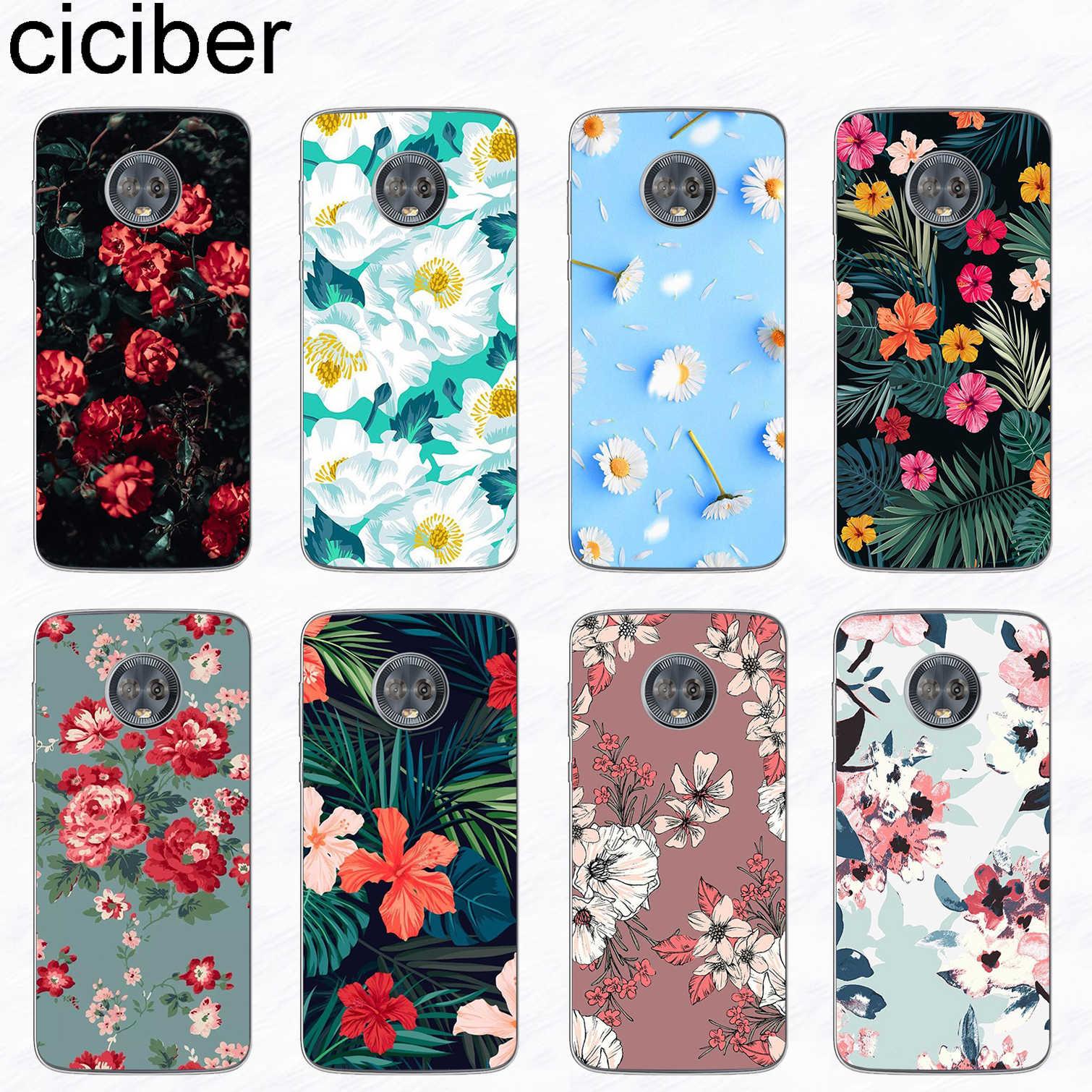 Чехол для телефона ciciber цветы розы для Motorola Moto G6 G5 G5S E5 E4 C Z2 Z3 G4 Plus Play X4 ONE P30 power Note мягкий чехол из ТПУ