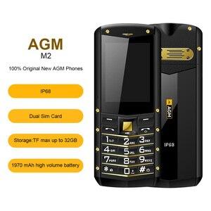"Image 4 - (다중 언어) AGM M2 2.4 ""견고한 전화 듀얼 SIM 후면 0.3MP 야외 기능 전화 IP68 방수 Shockproof 손전등"