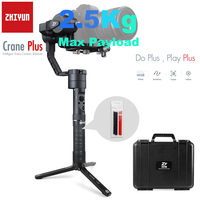 Zhiyun Official Crane Plus 3 Axis Handheld Gimbal Stabilizer for Canon Nikon Sony Mirrorless DSLR Camera Support 2.5KG POV Mode
