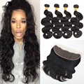 Grace Hair Products Brazilian Virgin Hair Body Wave With Frontal 13x4 Ear To Ear Lace Frontal With Baby Hair And Bundles By DHL