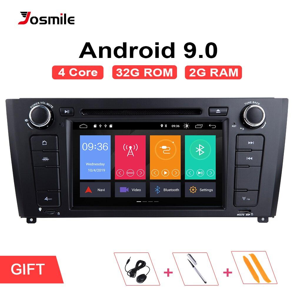 AutoRadio 1 Din Android 9.0 lecteur DVD de voiture pour BMW E87 1 série E88 E82 E81 I20 D Navigation multimédia GPS Wifi Bluetooth Audio