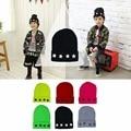 Five Star Rivets Autumn Winter Children Wool Cap Cute Knitted Boy Girl Hat