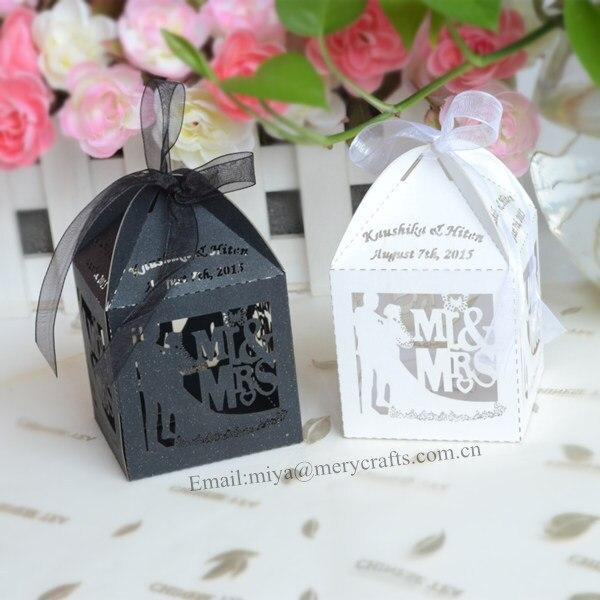 Laser Cut Bride Groom Wedding Candy Bo Mint Green Mr Mrs Theme Favors