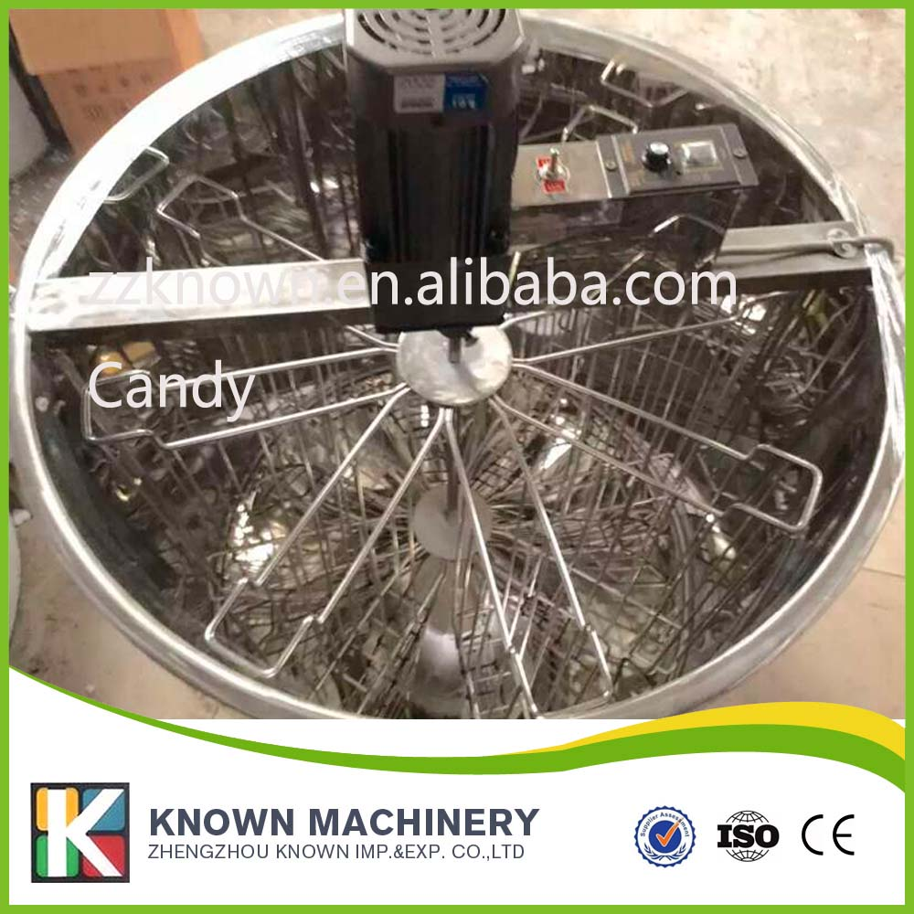 Hot sale electric stainless steel radial 8 frames honey extractor for sale hot sale silver stainless steel