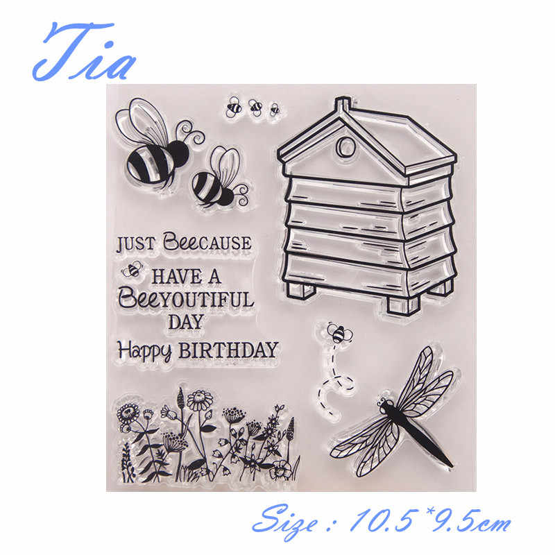 Sea Animal clear stamp Happy birthday  stamps butterfly transparent rubber stamp for scrapbooking paper card making DIY decor