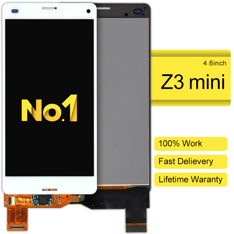 DHL 10pcs For Sony Ericsson Xperia Z3 Mini Lcd Display And Touch Screen Digitizer