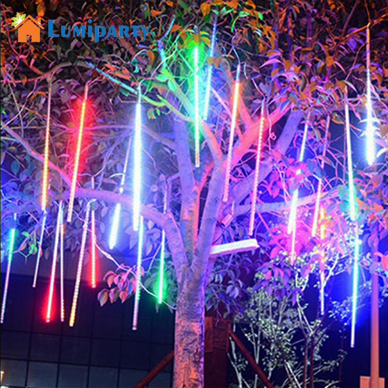 LumiParty 30cm/50cm Outdoor Waterproof String Lights LED Meteor Shower Rain Light for Christmas Wedding Party Decoration