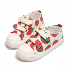Buy Hook and Loop Canvas Girls Shoes Cut Strawberry Cartoon Loafers Girl Summer Casual Flats Soft Non-slip Sneakers For Children directly from merchant!