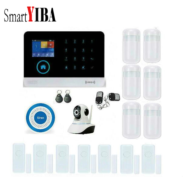 SmartYIBA RFID WIFI Android IOS APP Home Security Intruder font b Alarm b font Kits With