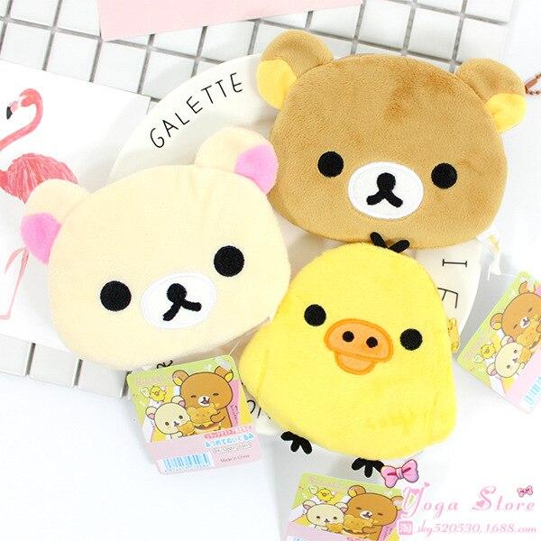 1 Pcs HOT Cartoon Kawaii Rilakkuma Coin Purse Unisex Wallet Multi-functional Kawaii Bag Anime Plush Toys
