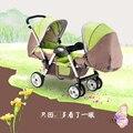Ligero Gemelos Cochecito Doble Cochecito de Bebé para Sentarse Cara a Cara, puede Mentir Puede Sentarse, 2 Asientos de Cochecito para 0-36 Meses Los Niños