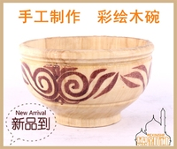 Hand bowl of yogurt drink horse milk in Xinjiang poplar bowl