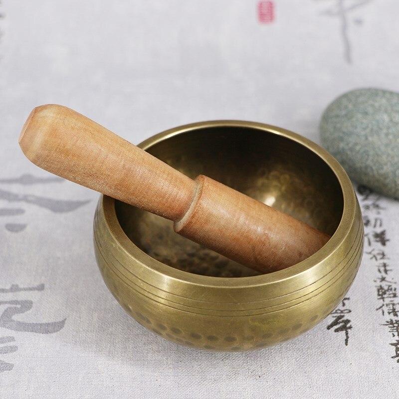New Tibetan Buddhism Handmade Bowl Meditation Hammered Alms  Yoga Copper Sound Therapy Chakra Singing Bowl Religious Supplies