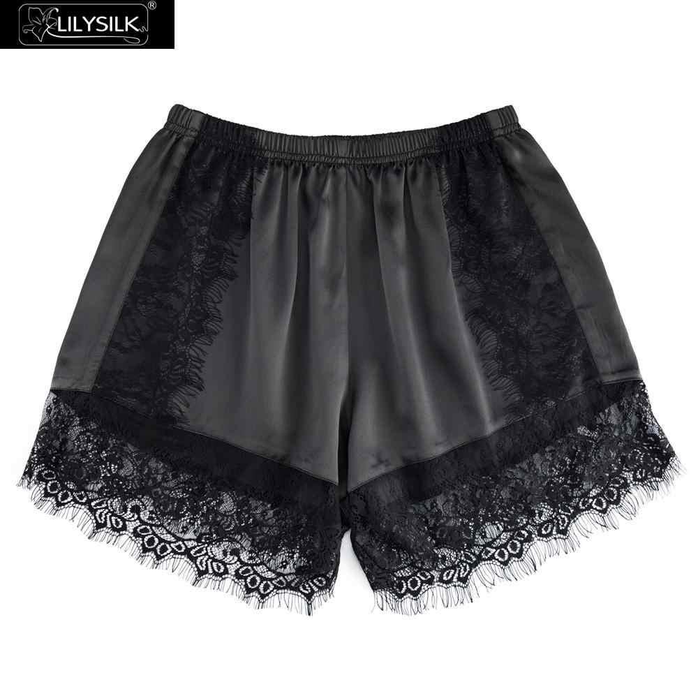 9d4dea3a2f LilySilk Silk Boyshorts Lace 19 Momme Women s Utral Soft Comfortable Cute  Club Modal Panties Underwear Brief