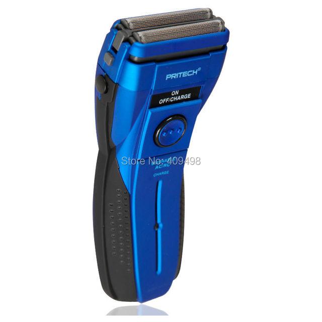 Pritech rsm-1162 twin blade máquina de afeitar eléctrica recargable lavable con patillas recortador