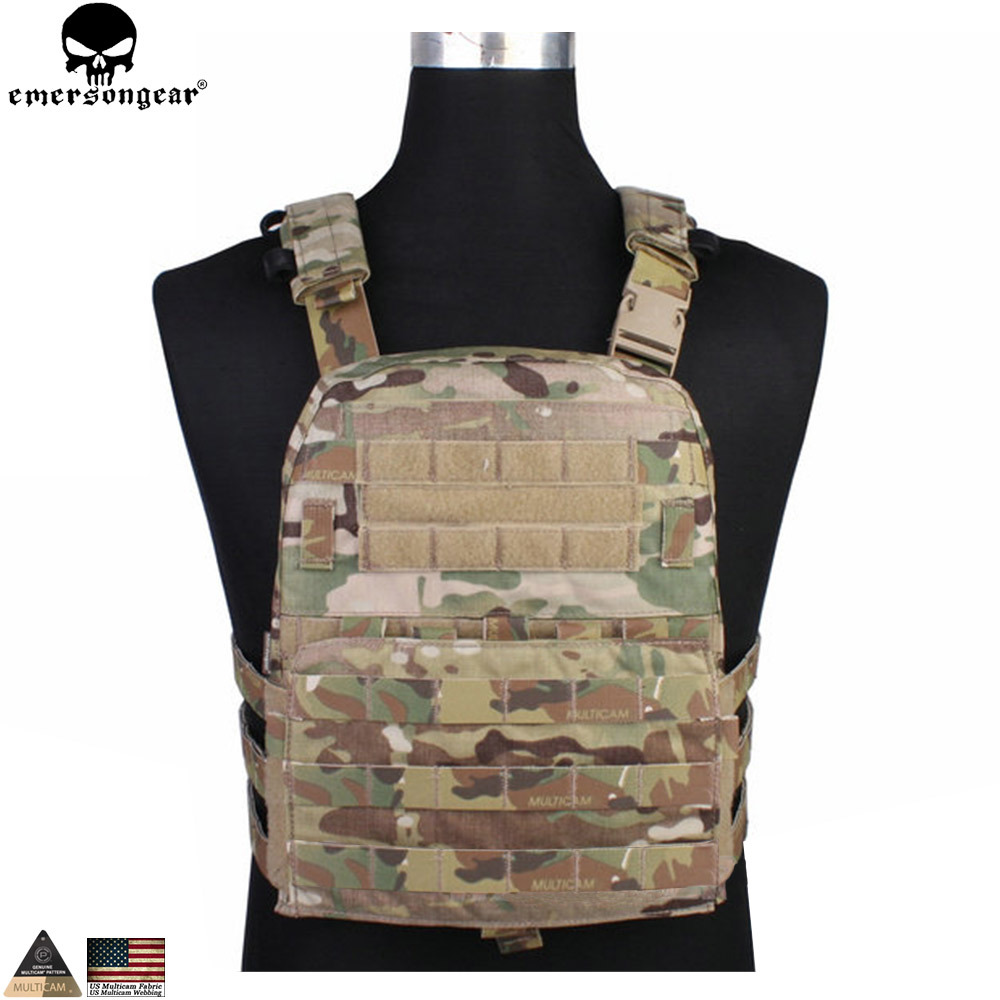 Emersongear Tactical Vest CP Style Lightweight AVS Vest Airsoft Combat Paintball Hunting Molle Plate Carrier Vest EM7398 onetigris heavy duty molle vest combat tactical gear vest hunting airsoft paintball protective vest