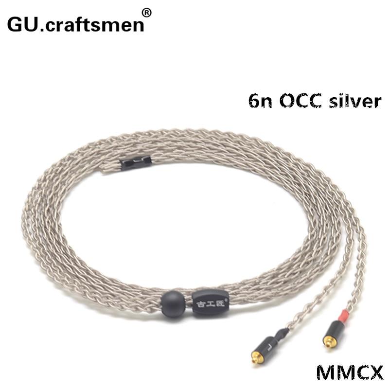6n occ argent MMCX HA-fd01 fd02 fw001 fw002 Edition5 ED5 Edition8 ED8 4.4 mmBalanec câble 2.5 mmbalance Casque câble À La Main