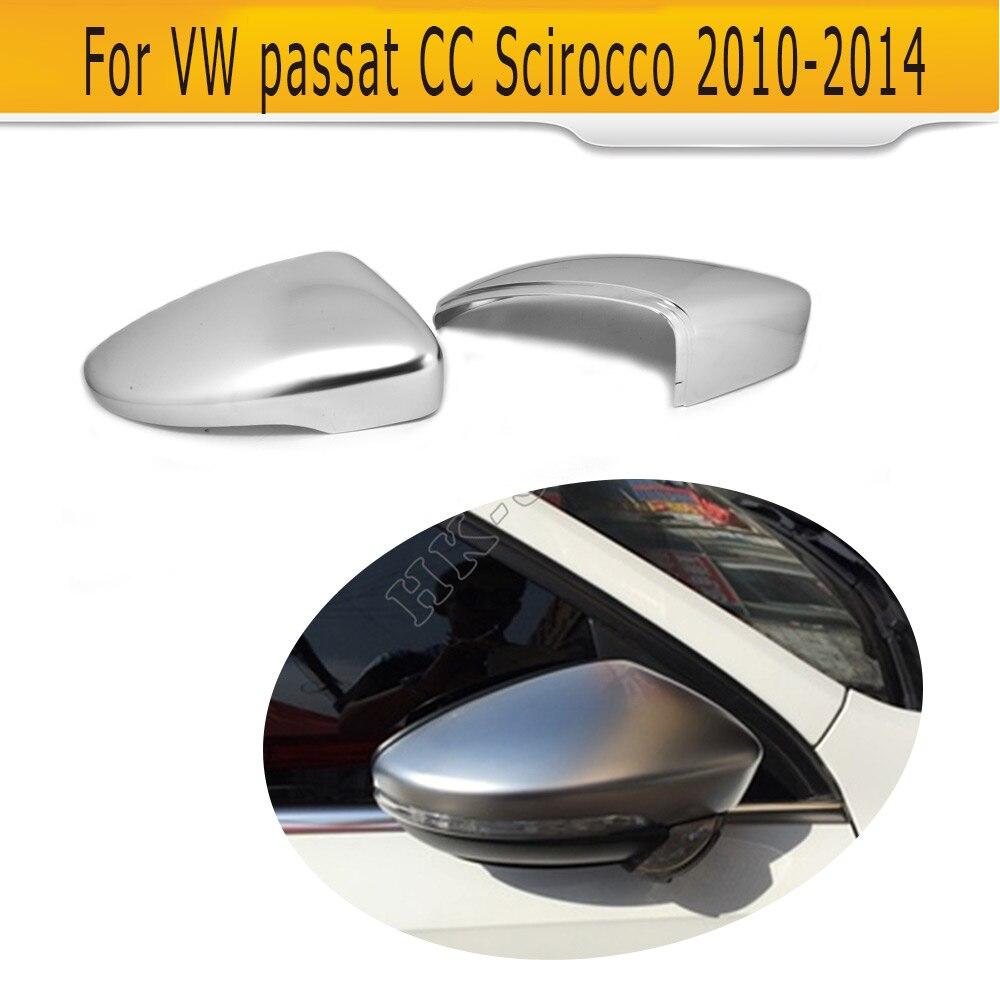 Le côté de voiture de Chrome mat d'abs remplacent des couvertures de miroir pour VW passat CC Scirocco 2010-2014