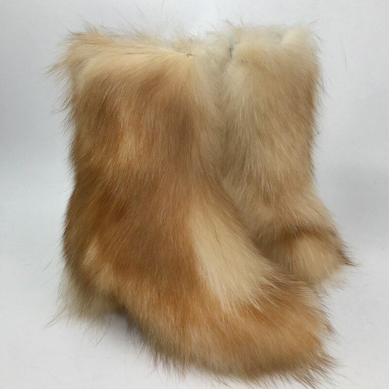 Micholediys 2018 New Arrival Handmade Winter Fox Fur Blue Snow Boots Eskimo Botas Antiskid Warm Increased Shoes micholediys winter new arrival handmade